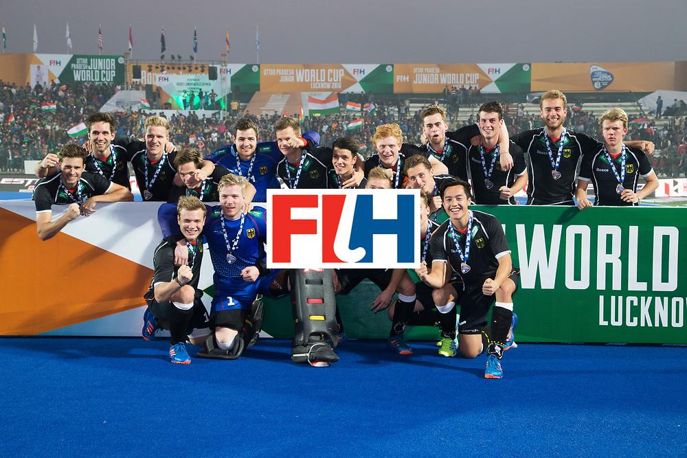LUCKNOW (India) -   Junior World Cup hockey  U21 for men . GERMANY v AUSTRALIA (3-0), for bronze.  German team   COPYRIGHT  KOEN SUYK