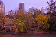 Downtown Houston at Buffalo Bayou, Sabin River,Houston, Texas,USA
