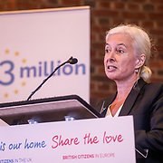 London, UK, 13th September 2017. Speaker Jane Golding, Mass lobby statements of support from a cross-party group of MPs , Hosts by British in Europe and the3million and partners talk about the campaign and the importance of guaranteeing citizens' rights. at Emmanuel Centre.