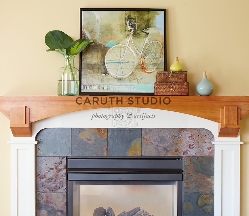 How to Style a Mantel: Add a botanical or fresh element