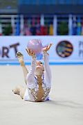 Durunda Marina during qualifying at ball in Pesaro World Cup on April 26, 2013.<br /> Marina is a Azerbaijani individual rhythmic gymnast of Ukrainian origin, she born on June 12, 1997 in Sevastopol.