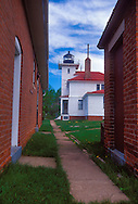 The Raspberry Island Lighthouse in Apostle Islands National Lakeshore near Bayfield, Wis.