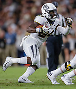 WEST LAFAYETTE, IN - SEPTEMBER 15: Larry Rountree III #34 of the Missouri Tigers runs the ball during the game against the Purdue Boilermakers at Ross-Ade Stadium on September 15, 2018 in West Lafayette, Indiana. (Photo by Michael Hickey/Getty Images) *** Local Caption *** Larry Rountree NCAA Football - Purdue Boilermakers vs Missouri Tigers at Ross-Ade Stadium in West Lafayette, Indiana. Sports photographer by Michael Hickey