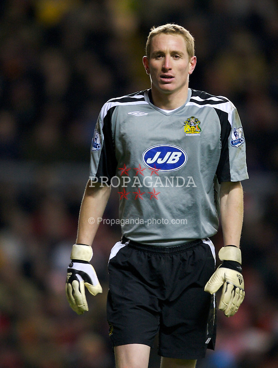 LIVERPOOL, ENGLAND - Wednesday, January 2, 2008: Wigan Athletic's goalkeeper Chris Kirkland during the Premiership match at Anfield. (Photo by David Rawcliffe/Propaganda)