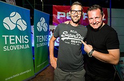 Matjaz Pogacnik and Rado Mulej at players party during Day 6 at ATP Challenger Zavarovalnica Sava Slovenia Open 2018, on August 8, 2018 in Sports centre, Portoroz/Portorose, Slovenia. Photo by Vid Ponikvar / Sportida