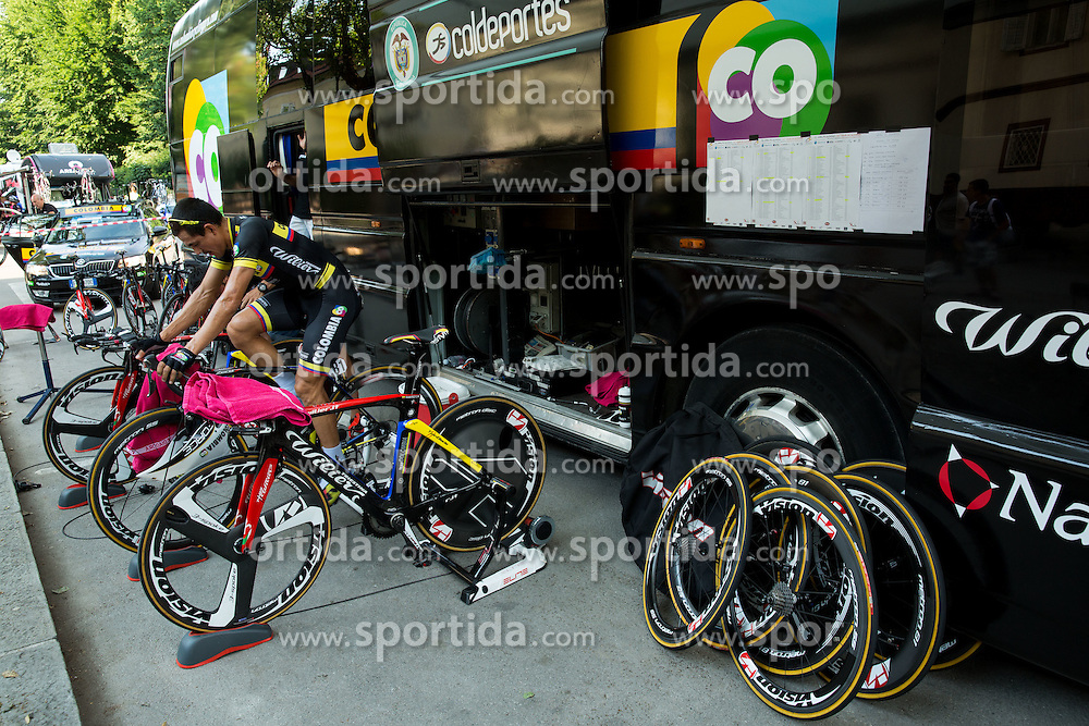 CANO ARDILA Alex Norberto (Colombia) of Team Colombia at warming up during Stage 1 of 22nd Tour of Slovenia 2015 - Time Trial 8,8 km cycling race in Ljubljana  on June 18, 2015 in Slovenia. Photo by Vid Ponikvar / Sportida