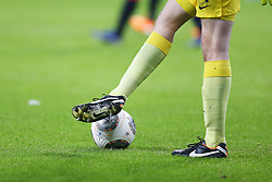 Football: Germany, 1. Bundesliga<br /> Ball und Beine, Balls, football player, Fussballer, Illustration, Ballsport, Ballspiel, Zweikampf, Aktion, action,