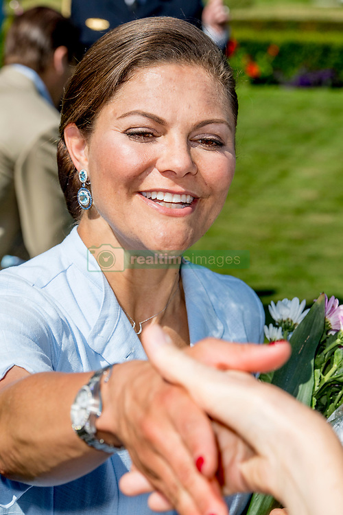 Crown Princess Victoria during the traditionally celebration of Crown Princess Victoria's birthday at the royal family's summer residence, Solliden Palace in Borgholm, Öland, Sweden, on July 15, 2017, a day later Stockholm celebration. Photo by Robin Utrecht/ABACAPRESS.COM