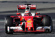 March 1, 2016 - Barcelona, Spain - <br /> <br /> The Finnish driver, Kimi Raikkonen, from Ferrari Formula One team, driving his car during the first day of Formula One tests days in Barcelona, 1st of March , 2016.<br /> ©Exclusivepix Media