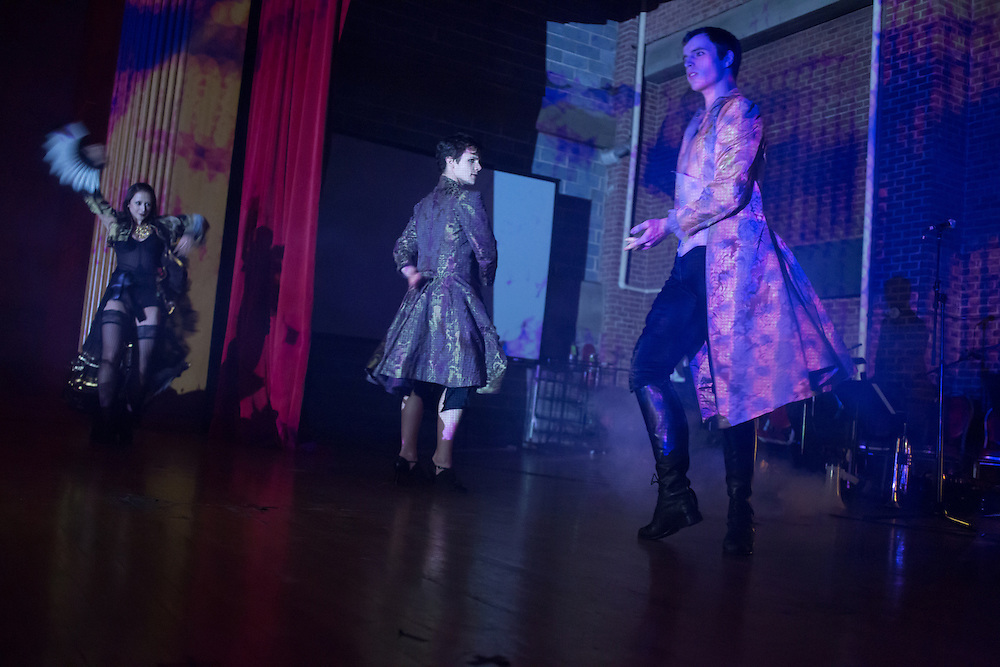 Company XIV performs at the Phantasmagorey Ball.
