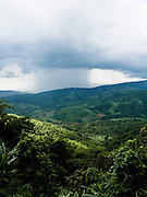 Rain shower over Burma seen from Doi Tung.