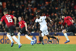 December 12, 2018 - Valencia, Spain - December 12, 2018 - Valencia, Spain - .Michy Batshuayi of Valencia during the UEFA Champions League, Group H football match between Valencia CF and Manchester United on December 12, 2018 at Mestalla stadium in Valencia, Spain (Credit Image: © Manuel Blondeau via ZUMA Wire)