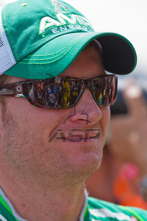 INDIANPOLIS, IN - JUL 29, 2012: Dale Earnhardt, Jr. (88) prepares to race the Sprint Cup Series race at the Indianapolis Motor Speedway in Indianapolis, IN.