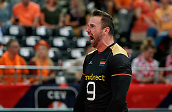21-09-2019 NED: EC Volleyball 2019 Netherlands - Germany, Apeldoorn<br /> 1/8 final EC Volleyball / György Grozer #9 of Germany