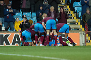 Scunthorpe United celebrate as Scunthorpe United midfielder Josh Morris (11) scores a goal 2-0 during the EFL Sky Bet League 1 match between Scunthorpe United and Charlton Athletic at Glanford Park, Scunthorpe, England on 25 November 2017. Photo by Craig Zadoroznyj.