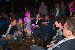 Gina Cappelmann, Fabienne Lutkemeier, Madeleine WInter-Schultze, Werth Isabell and Monica Theodorescu (GER) <br /> at the draw in the Hakkasan Club at the MGM Hotel<br /> Reem Acra FEI World Cup™ Dressage Finals <br /> Las Vegas 2015<br />  © Hippo Foto - Dirk Caremans<br /> 16/04/15