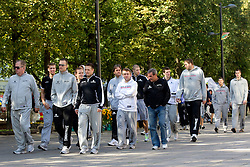 National basketball team of Slovenia walking at Laisves Al. in Kaunas city centre during FIBA Europe Eurobasket Lithuania 2011, on September 14, 2011, in Kaunas, Lithuania.  (Photo by Vid Ponikvar / Sportida)