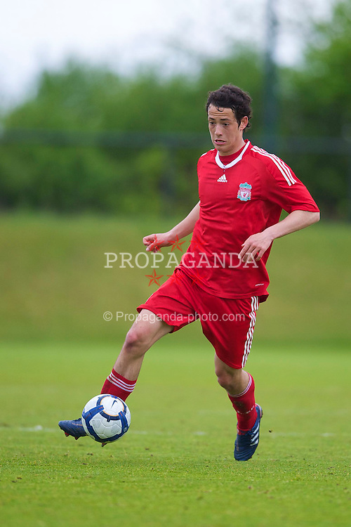 LIVERPOOL, ENGLAND - Thursday, April 29, 2010: Liverpool's Krisztian Adorjan in action against Leeds United during the FA Academy Under-18's League at the Academy. (Photo by David Rawcliffe/Propaganda)