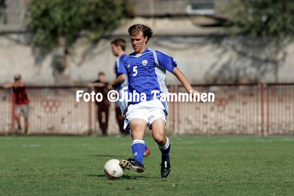 08.09.2004, Nairi Stadium, Erevan, Armenia..UEFA Under-21 European Championship qualifying match, Armenia v Finland..Ari Nyman - Finland U-21.©Juha Tamminen.....ARK:k