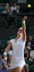 LONDON, ENGLAND - Saturday, July 2, 2011: Samantha Stosur (AUS) in action during the Ladies' Doubles Final match on day twelve of the Wimbledon Lawn Tennis Championships at the All England Lawn Tennis and Croquet Club. (Pic by David Rawcliffe/Propaganda)