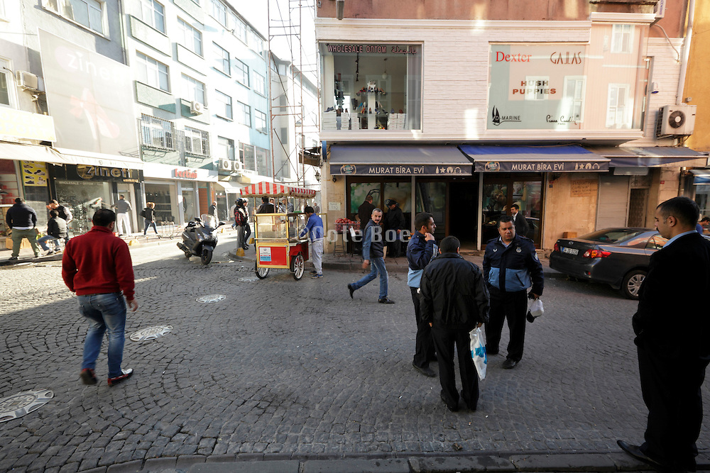 street scene in the old city Sultanahmet area of Istanbul Turkey