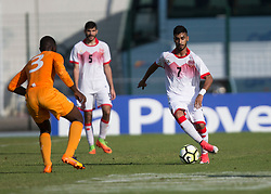 AUBAGNE, FRANCE - Tuesday, May 30, 2017: Bahrain's Ahmed Alanezi Ali in action during the Toulon Tournament Group B match between Bahrain and Ivory Coast at the Stade de Lattre-de-Tassigny. (Pic by Laura Malkin/Propaganda)