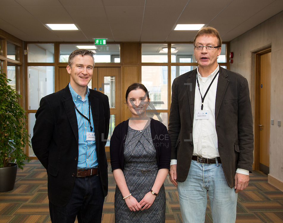 08.12.2016                   <br /> Pictured at the MACSI 10 conference, Analog Devices Building UL were, Prof. James Gleeson, MACSI UL, Sinead Burke, MACSI UL and Prof. Stephen O'Brien, MACSI UL. Picture: Alan Place