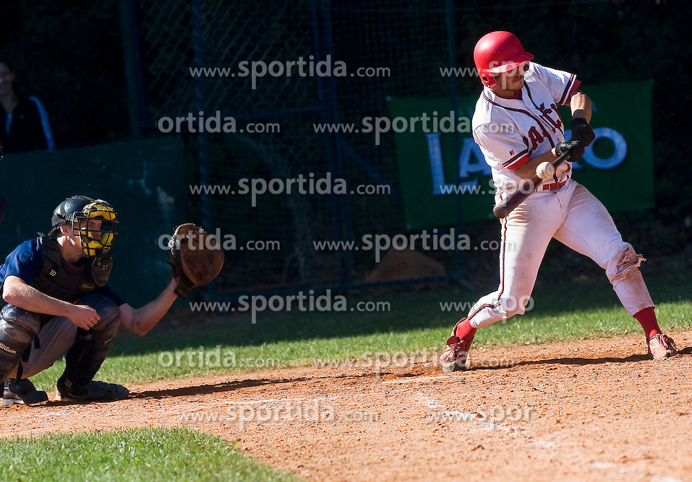 Baseball match between team's Jezica and Zajcki on October 1, 2011 in Ljubljana, Slovenia  (Photo by Grega Valancic / Sportida)