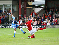 Photo: Andrew Unwin.<br />Accrington Stanley v Wycombe Wanderers. Coca Cola League 2. 30/09/2006.<br />Wycombe's Iketchi Anya (L) takes a shot.