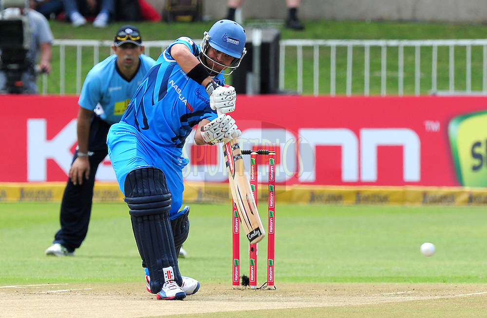 J Rudolph during match 8 of the Karbonn Smart CLT20 South Africa between The Titans and The Auckland Aces held at Kingsmead Park in Durban, South Africa on the 17th October 2012..Photo by Gerhard Duraan/SPORTZPICS/CLT20