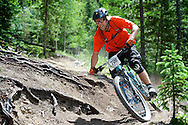 Phil Cowan competes in Stage 3 of the Keystone Big Mountain Enduro in Keystone, CO. ©Brett Wilhelm