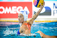 22-07-2017: Waterpolo: Nederland v Rusland: Boedapest<br /> <br /> (L-R) Nomi Stomphorst of team Netherlands during the waterpolomatch between women Netherlands and Russia during the 17th FINA World Championships 2017 in Budapest, Hungary<br /> <br /> Photo / Foto: Gertjan Kooij