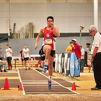Alexander Stathis, McGill, 2019 U SPORTS Track and Field Championships on Thu Mar 07 at James Daly Fieldhouse. Credit: Arthur Ward/Arthur Images