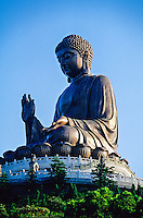 Tian Tan Giant Buddha (world's largest seated outdoor bronze Buddha), Po Lin Monastery, Lantau Island, Hong Kong, China
