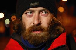 Portrait of bearded; long haired man,