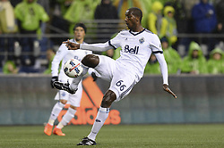 November 2, 2017 - Seattle, Washington, U.S - Soccer 2017: Whitecaps defender ALY GHAZAL (66) controls the ball as the Vancouver Whitecaps and Seattle Sounders play in a MLS Western Conference semi-final match at Century Link Field in Seattle, WA. Seattle won the match 2-0. (Credit Image: © Jeff Halstead via ZUMA Wire)