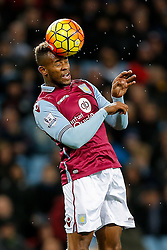 Leandro Bacuna of Aston Villa in action - Mandatory byline: Rogan Thomson/JMP - 01/03/2016 - FOOTBALL - Villa Park Stadium - Birmingham, England - Aston Villa v Everton - Barclays Premier League.