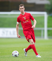 LLANELLI, WALES - Saturday, September 15, 2012: Llanelli's captain Chris Venables in action against Newtown during the Welsh Premier League match at Stebonheath Park. (Pic by David Rawcliffe/Propaganda)