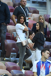 Jamie Vardy of England's wife Rebekah Vardy with Millie Savage, John Stones girlfriend and Meghan Davison Goalkeeper Jordan Pickford's girlfriend during the 2018 FIFA World Cup Russia Semi Final match between England and Croatia at Luzhniki Stadium on July 11, 2018 in Moscow, Russia. Photo by ABACAPRESS.COM