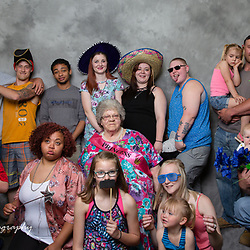 Grandma posed with all the grandchildren.