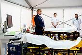 Koning Willem Alexander bezoekt Isala Ziekenhuis in Zwolle