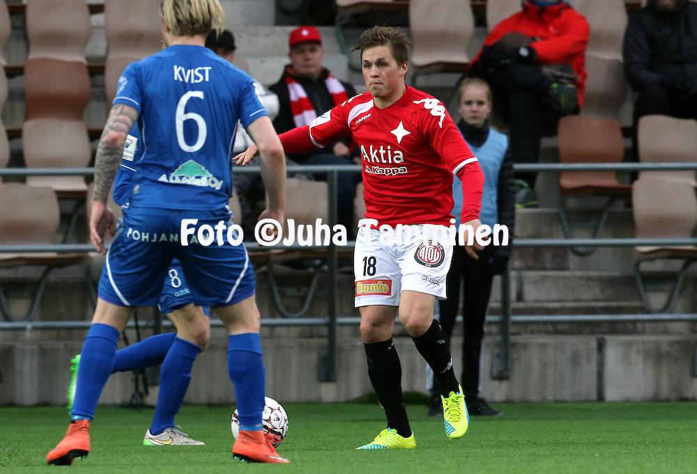25.4.2016, Sonera Stadion, Helsinki.<br /> Veikkausliiga 2016.<br /> Helsingfors IFK - PS Kemi.<br /> Matias H&auml;nninen - HIFK