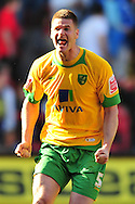 London - Saturday, April 17th 2010: Michael Nelson of Norwich City celebrates promotion after the Coca Cola League One match at The Valley, Charlton...(Pic by Alex Broadway/Focus Images)
