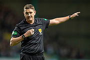 Referee Craig Thomson during the Ladbrokes Scottish Premiership match between Hibernian and Rangers at Easter Road, Edinburgh, Scotland on 19 December 2018.