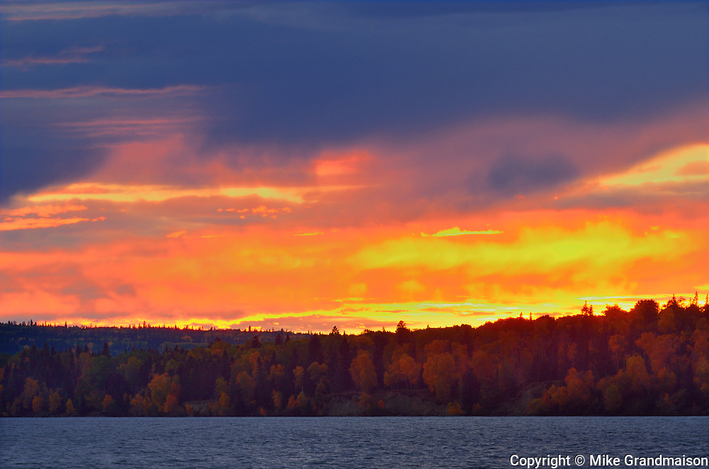 Sunset on Waskasiu Lake<br /> Prince Albert National Park<br /> Saskatchewan<br /> Canada