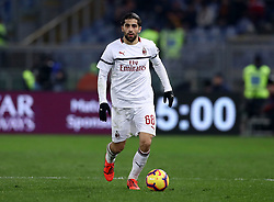 February 3, 2019 - Rome, Italy - AS Roma v AC Milan - Serie A.Ricardo Rodriguez of Milan at Olimpico Stadium in Rome, Italy on February 3, 2018. (Credit Image: © Matteo Ciambelli/NurPhoto via ZUMA Press)
