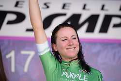 Annemiek van Vleuten retains her lead in the climbers competition on Stage 5 of the Giro Rosa - a 12.7 km individual time trial, starting and finishing in Sant'Elpido A Mare on July 4, 2017, in Fermo, Italy. (Photo by Sean Robinson/Velofocus.com)
