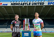 Picture by Allan McKenzie/SWpix.com - 14/05/2018 - Rugby League - Dacia Magic Weekend 2018 Preview - St James Park, Newcastle, England - Widnes's Danny Walker & St Helens' Tommy Makinson.