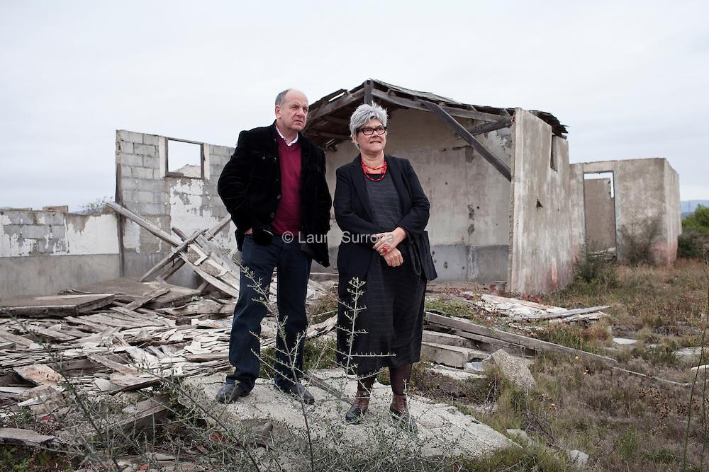 Agnes Sajaloli et Denis Peschanski, directrice et directeur de recherche au CNRS et President du conseil scientifique du Memorial du Camp de Rivesaltes.