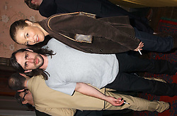 Actress AMANDA DONOHOE and RUSSELLL HASWELL     at a party to celebrate the publication of Strangeland by artist Tracey Emin at 33 Portland Place, London W1 ON 21ST OCTOBER 2005.<br /><br />NON EXCLUSIVE - WORLD RIGHTS